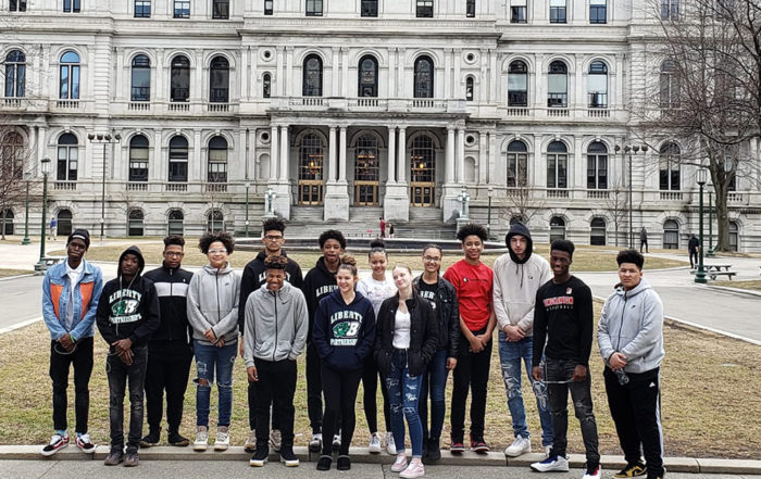 Liberty students in front of the capital building