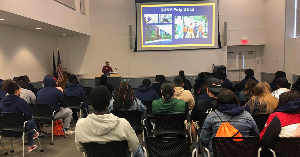 Liberty Students watching a presentation