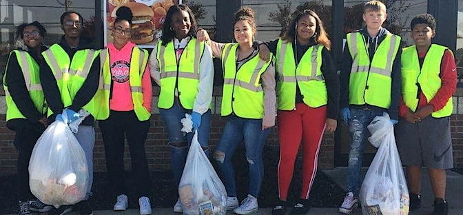 Future leaders engaging in community service